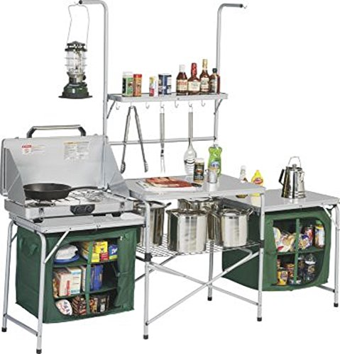 Outdoor Deluxe Portable Camping Kitchen, With PVC Sink U0026 Drain, Lets You  Create Meals In Any Environment