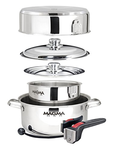 Magma 7 Piece Gourmet Nesting Stainless Steel Cookware Set