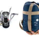 Tooge Naturehike Lightweight Portable Sleeping Bag and Mini Foldable Camp Stoves for Backpacking,Camping,Hiking and Picnic-Envelope Sleeping Bags with Compression Bag and ultrafoldable camp stove