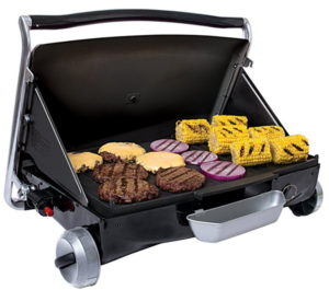 George Foreman GP200B Portable Propane Camp & Tailgate Grill, Portable Gas Grill, Camping Grill