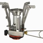 Ultralight Backpacking Camp Stove – Lightweight Aluminum and Stainless Steel – Piezo Ignition System – Best for Hiking Camping Hunting Fishing and Trekking Trips Outdoors