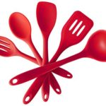 Premium Silicone Kitchen Cooking Utensil Set(5 Piece)- Heat Resistant Professional Cooking Tools In Hygienic Solid Coating ( Cherry Red)