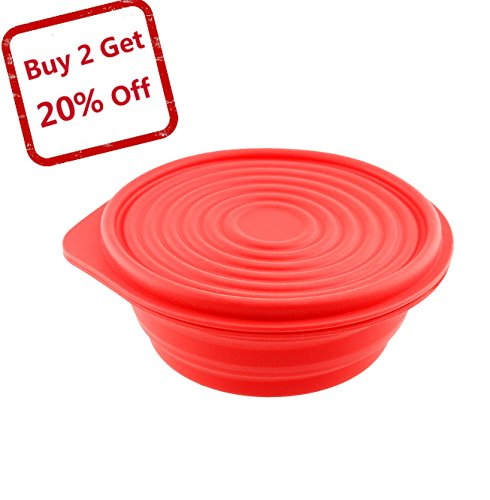 Collapsible Silicone Bowl for Camping – Food-grade & Space-Saving – by Not Just A Gadget