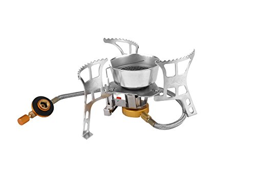 Gwild Camping Stove Ultralight Portable Collapsible Windproof Outdoor Backpacking Gas Stove with Piezo Ignition