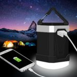 LED Camping Lantern, 13000mAh Power Bank with Phone Charger, 4W IP65 Waterproof Rechargeable Tent Light, 280 Hours of Light from a Single Charge – Portable for Outages, Emergencies, Hurricanes, Hiking